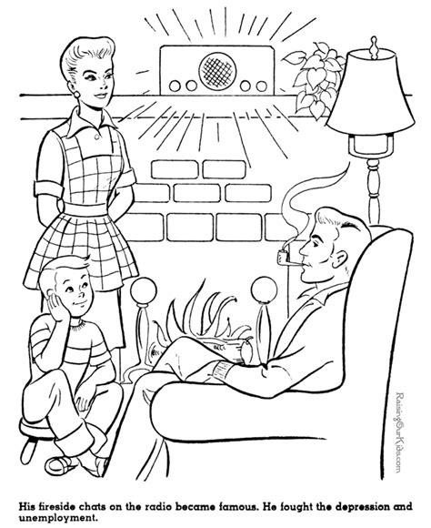 eleanor roosevelt free colouring pages