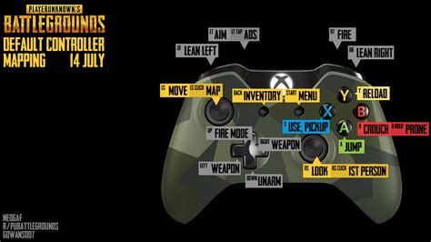 pubg controls xbox i couldn t find a default controller mapping guide so i