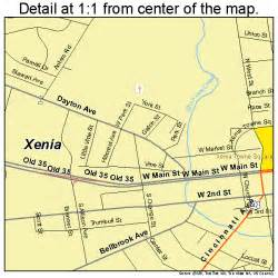 Xenia Ohio Map by Xenia Ohio Street Map 3986772