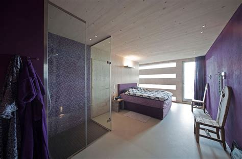 shower in bedroom purple bedroom shower eco friendly house in amsterdam