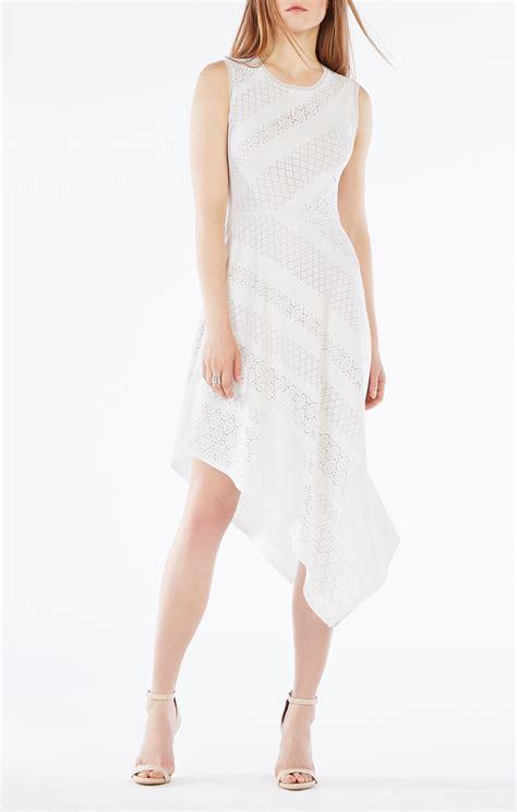 Dress Lace Asymetris tracie asymmetrical striped lace dress