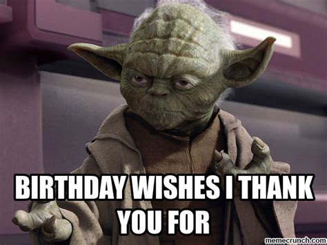 Birthday Thanks Meme - birthday thank you meme