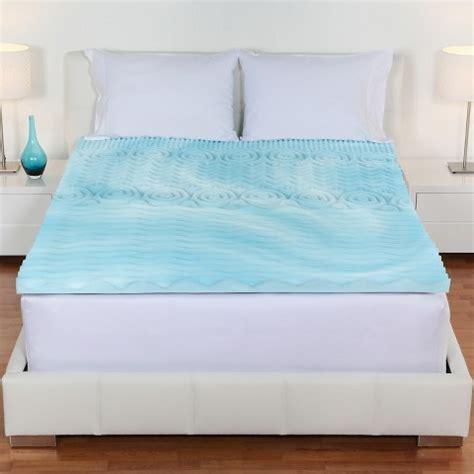 target bed toppers comfort rx gel foam 2 quot topper target