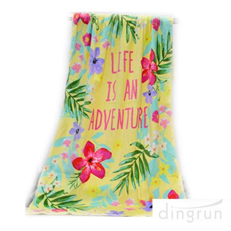 Printed Towel 70 140cm cotton velour reactive printed towel