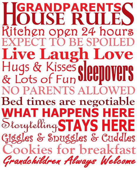 house rules word art custom designs house rules word art custom designs