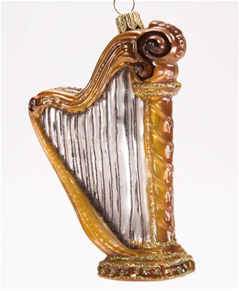 harp polish glass christmas ornament the cottage shop