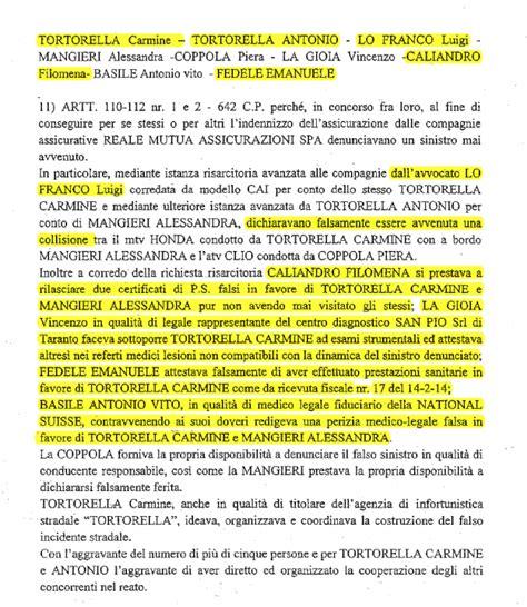 nationale suisse assicurazioni sede legale esclusiva tutti i nomi dell inchiesta sui falsi incidenti