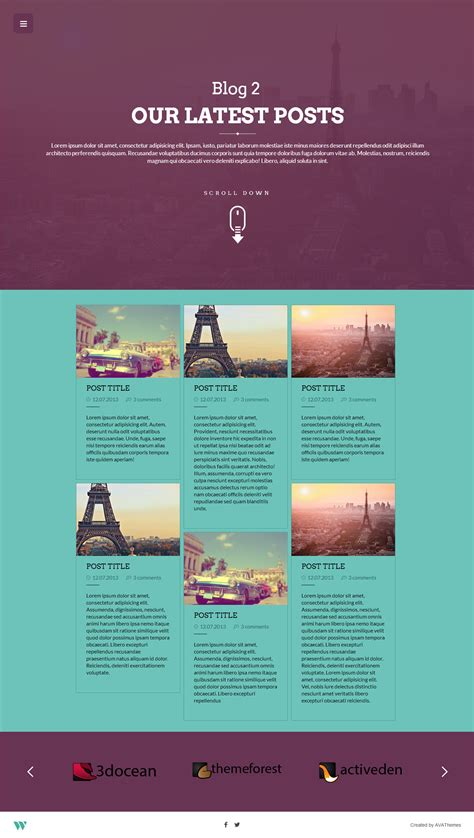 one page brochure template word wilder flat one page responsive theme by