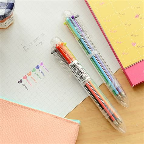 10 in 1 multi color pen 3pcs lot creative 6 in 1 colors ballpoint pen multi color