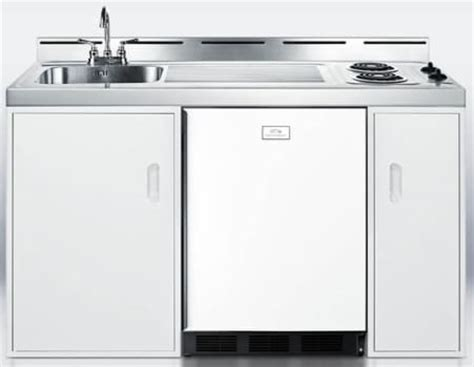 fridge stove sink combo ikea summit c60el 60 inch combination kitchen with 5 1 cu ft