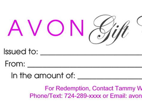 avon templates free avon gift certificate gift ftempo