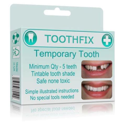 tooth repair material missing tooth replace temporary