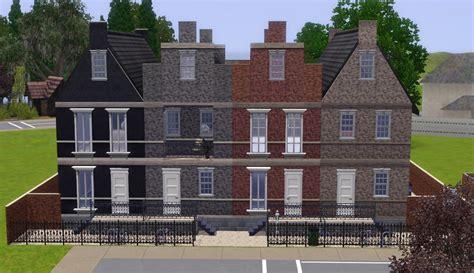 the row house mod the sims the dutch row houses
