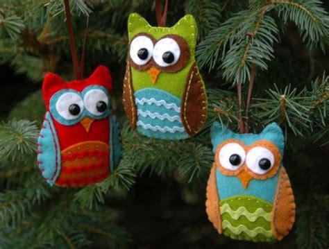 diy owl ornaments 10 diy felt ornaments