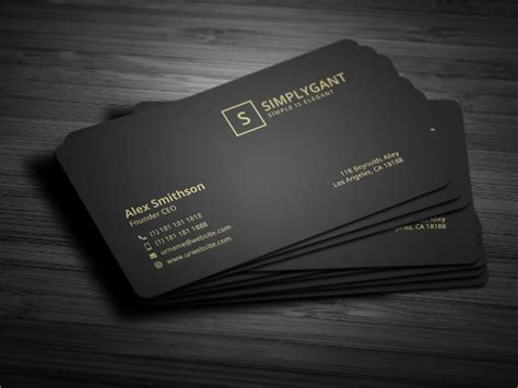 business card black stock ai template black gold business cards songwol c4fff4403f96