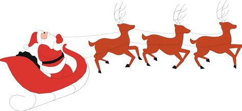 best art of santa and eight teindeer santa and reindeer images clipart best