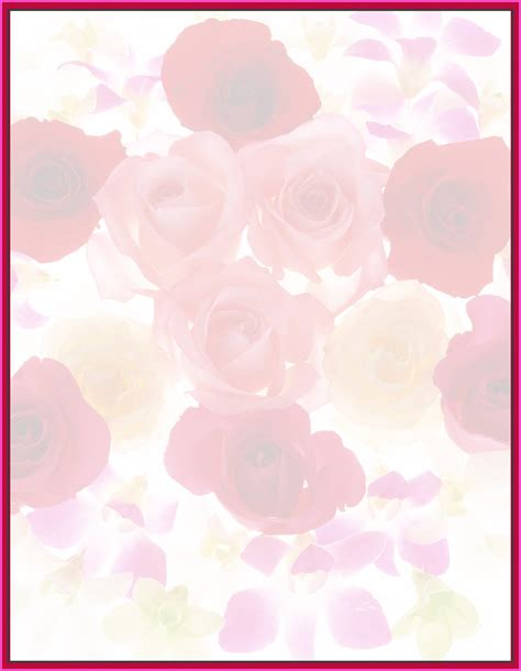 free paper background templates free background stationary stationery free roses