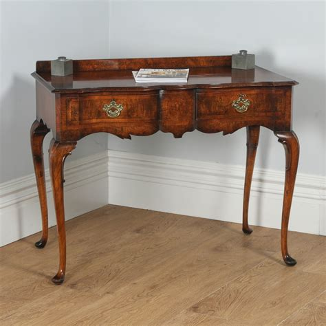 vintage queen anne desk antique maples co burr walnut queen anne style serving