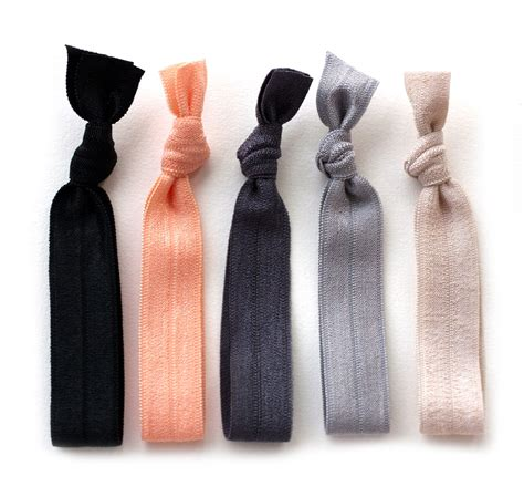 Hair Tie the silk hair tie package 5 elastic solid color hair ties