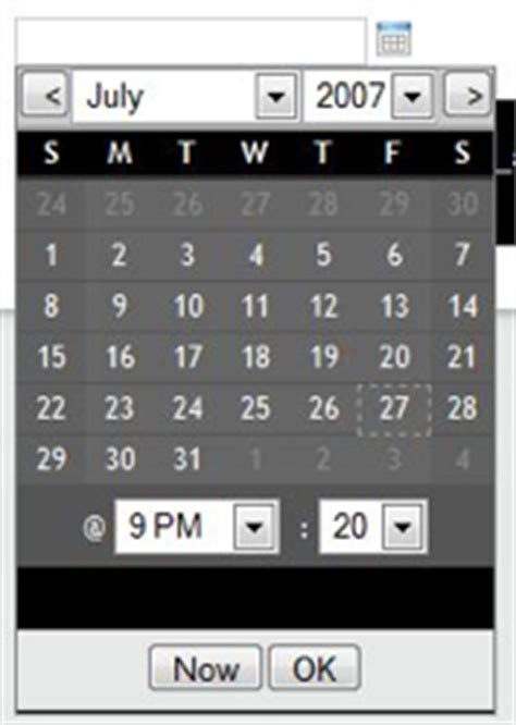 lightweight ruby web framework calendar date select a lightweight prototype based date
