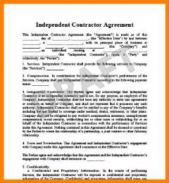 independent contractor contract independent contractor