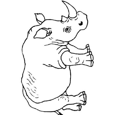 coloring pages rhino rhino coloring pages coloring home