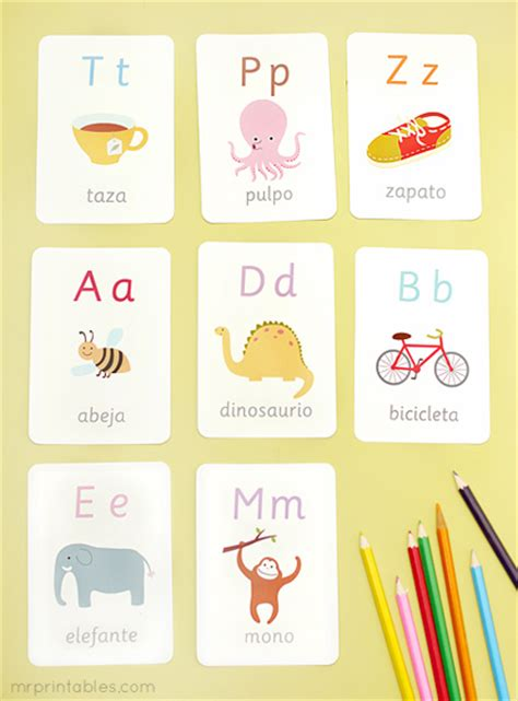 Spanish Alphabet Flashcards Printable | 9 best images of printable flash cards in spanish free