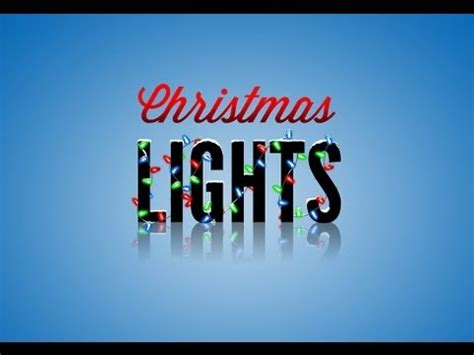 photoshop tutorial christmas lights youtube