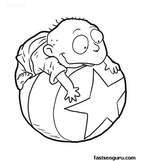 rugrats halloween coloring pages printable tommy from rugrats coloring page printable