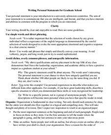 personal statement for graduate school template sle personal statement for graduate school 8