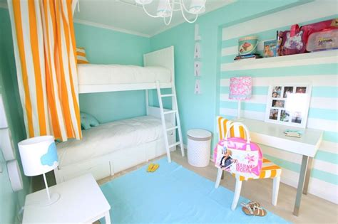 turquoise girls bedroom turquoise striped walls contemporary girl s room