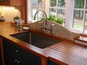 Rustic Red Kitchen Cabinets Countertop Gallery New England Wood Countertops