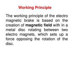 Brake System Working Principle Electromagnetic Braking System 14
