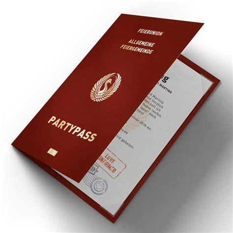 Hochzeitseinladungen Mit Foto Gestalten by Hochzeitseinladungen Als Reisepass Partypass Passport