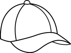 hat outline template baseball cap line free clip