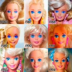 Evolution of barbie between 1959 and 2015 ufunk net