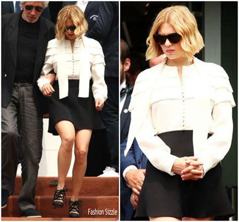 lea seydoux roland garros lea seydoux in louis vuitton roland garros fashionsizzle