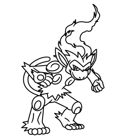 pokemon coloring pages infernape infernape coloring pages for kids