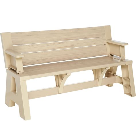 converta bench convert a bench faux wood outdoor 2 in 1 bench to table