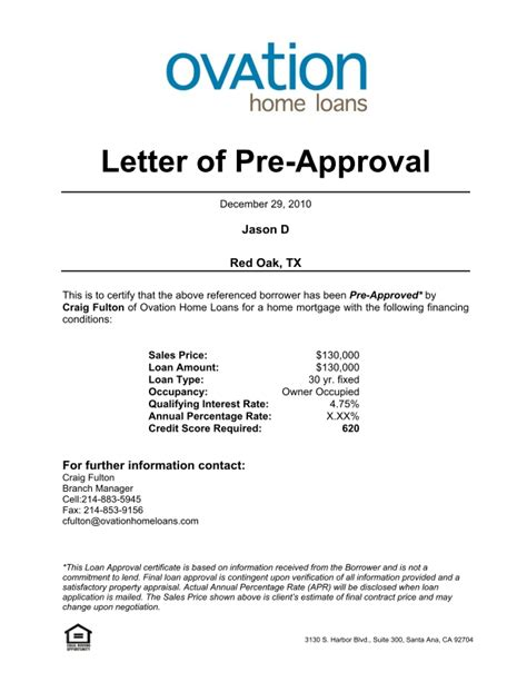 mortgage pre approval letter template the best resume