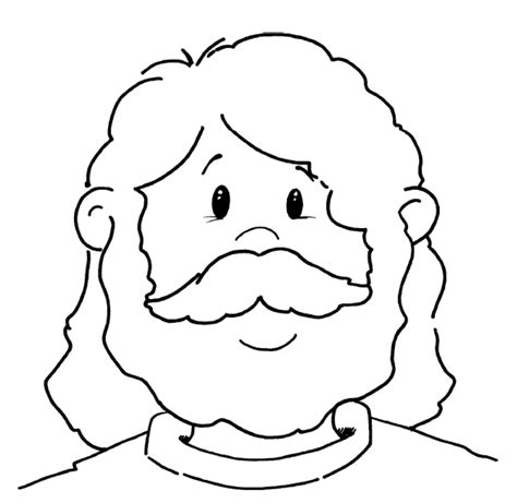 Coloring Page Of Jesus Face | jesus face coloring page inspirational sunday school