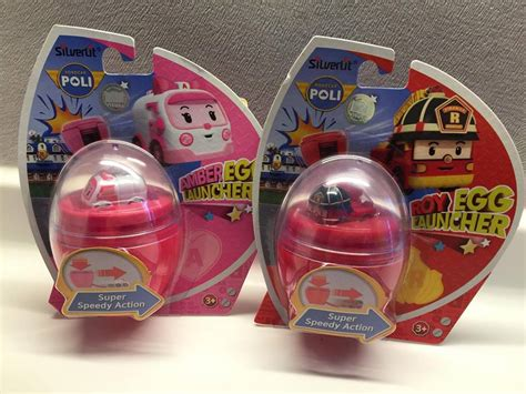robocar poli mini egg launcher speedy poli