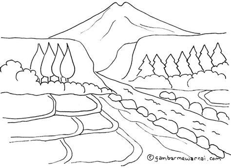 mewarnai gambar pemandangan gunung dan sawah ideas for the house image search