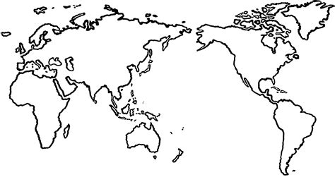 Map Clipart Outline Pencil And In Color Map Clipart Outline Map Template