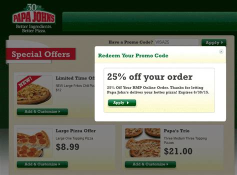 papa john s discount vouchers papa johns pizza coupon codes cyber monday deals on