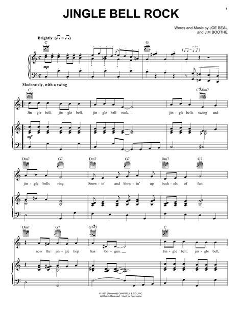 jingle bells rock testo bobby helms quot jingle bell rock quot sheet notes chords
