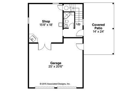 floor plan garage country house plans garage w shop 20 154 associated