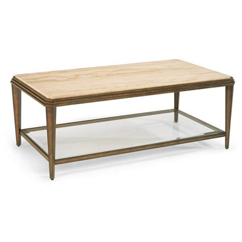 flexsteel 6629 031 seville rectangular coffee table