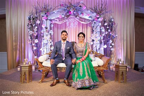 Punjabi Wedding Stage Decoration by Sacramento Ca Indian Wedding By Love Story Pictures