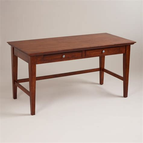 mahogany desk mahogany konrad desk world market